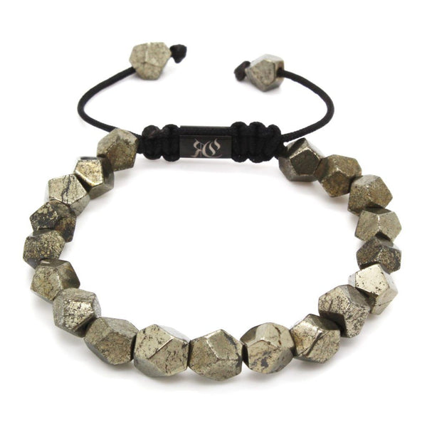 Octagon-Cut Earth stone Men Bracelet