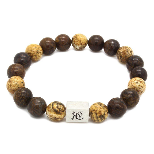 Big Classic Bronzo Men Bracelet - Sterling Silver Beaded bracelet men bracelet women bracelet Roano Collection