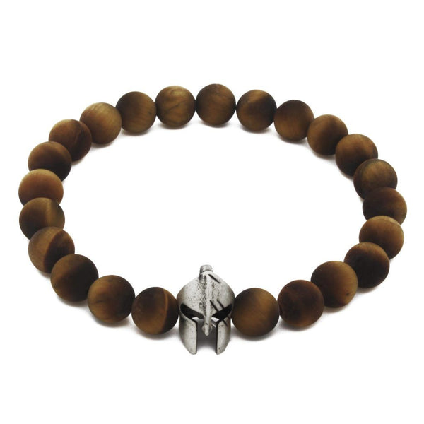 Spartan Helmet Semi-Precious Stones Bracelet - Sterling Silver - Roano Collection