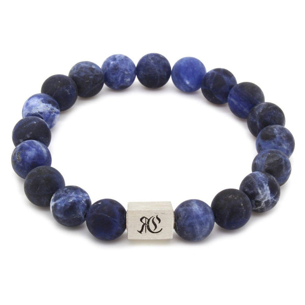 Big Classic Matte Sodalite Bracelet - Sterling Silver - Roano Collection