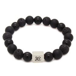 Big Classic Mixed Black Bracelet - Sterling Silver - Roano Collection