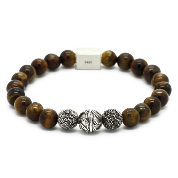 Premium Semi-Precious Stones Bracelet - Sterling Silver - Roano Collection