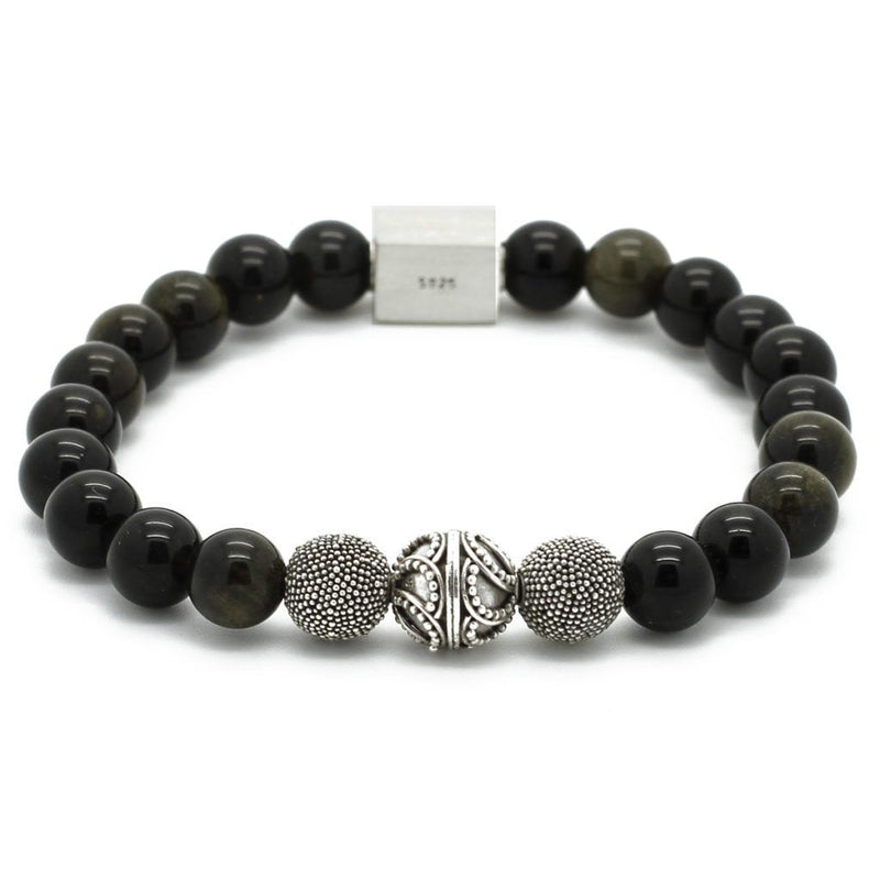 Premium Obsidian Bracelet - Roano Collection