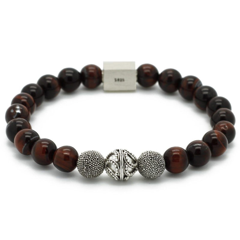 Premium Red Tiger Eye Bracelet - Roano Collection