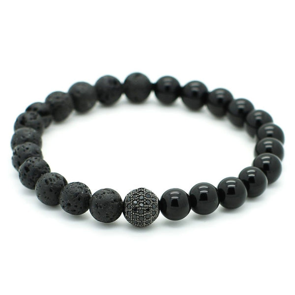 Black CZ Beaded bracelet