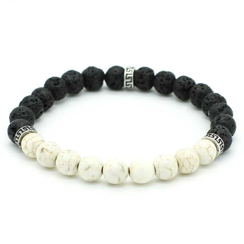 The Simple Black and white Bracelet