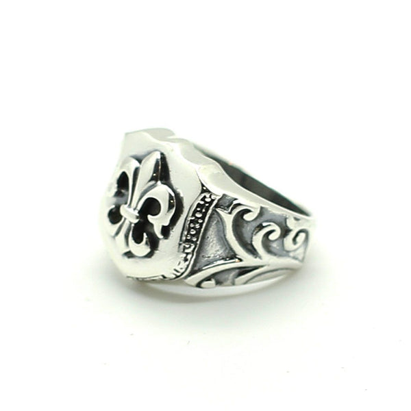 Fleur de Lis Ring - Sterling Silver Sterling Silver Rings Roano Collection 8