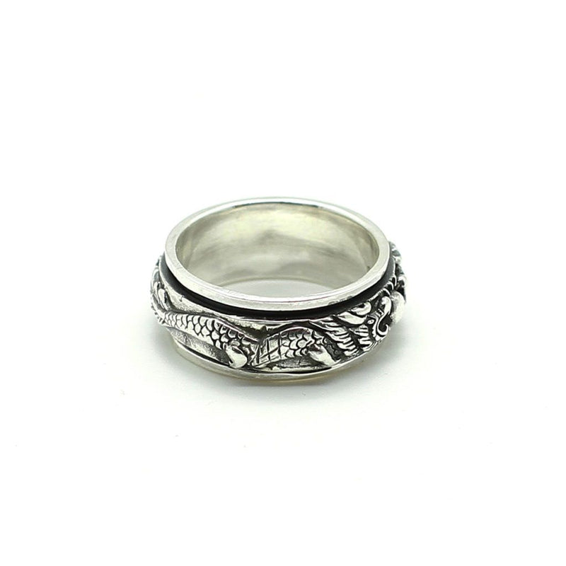 War of Dragons Spin Ring - Sterling Silver - Roano Collection