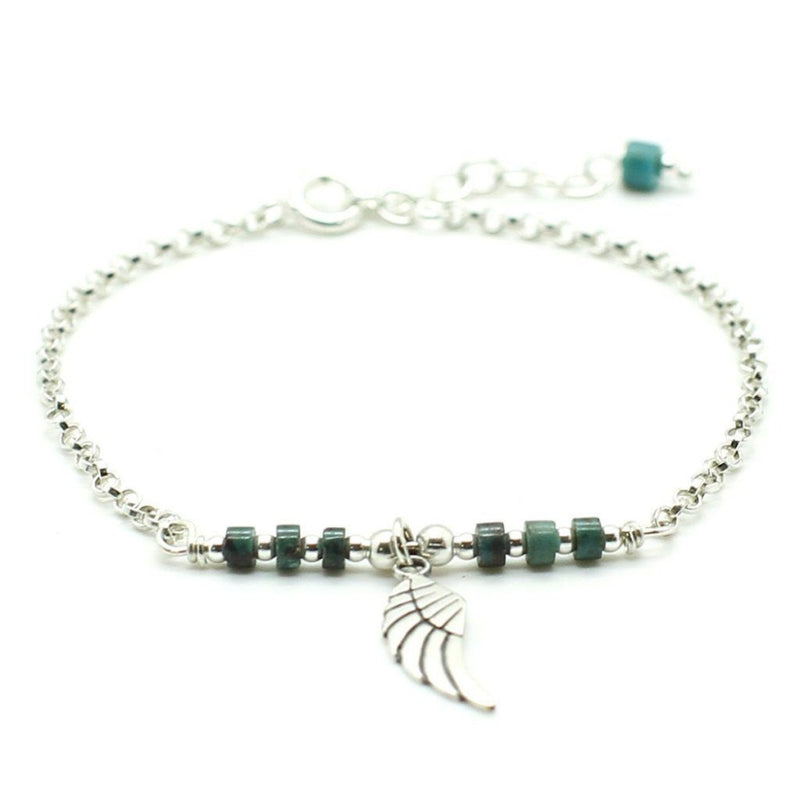 Angel Wing Charm Bracelet - Sterling Silver - Roano Collection