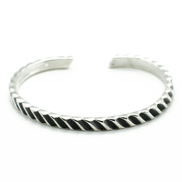 Men Silver Cuff Bracelet - Roano Collection
