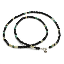 Black Onyx beaded Strand Necklace - Roano Collection