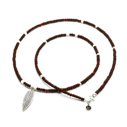 Men Feather Brown Necklace - Roano Collection