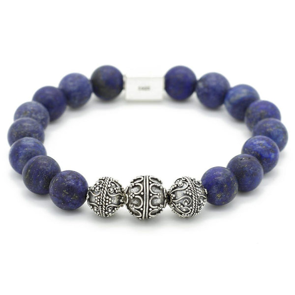 Elite Matte Lapis Lazuli Bracelet for Men - Roano Collection