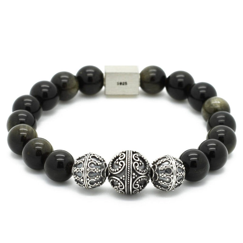 Elite Obsidian men Bracelet - Roano Collection
