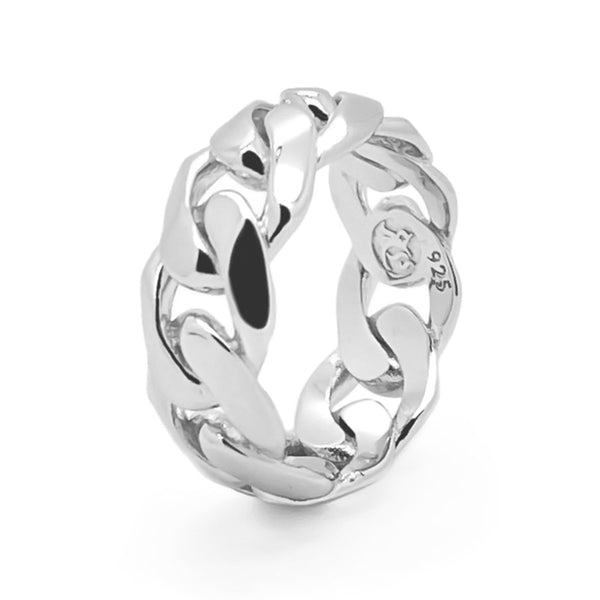 Men's Silver Chain Ring Sterling Silver Rings Roano Collection
