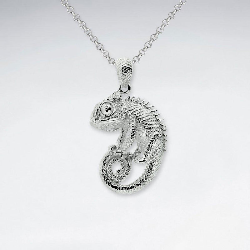 Chameleon Silver Necklace