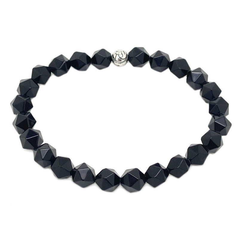 The Diamond Cut Simple Stones Bracelet Women bracelet Roano Collection XS (13-14 CM) onyx