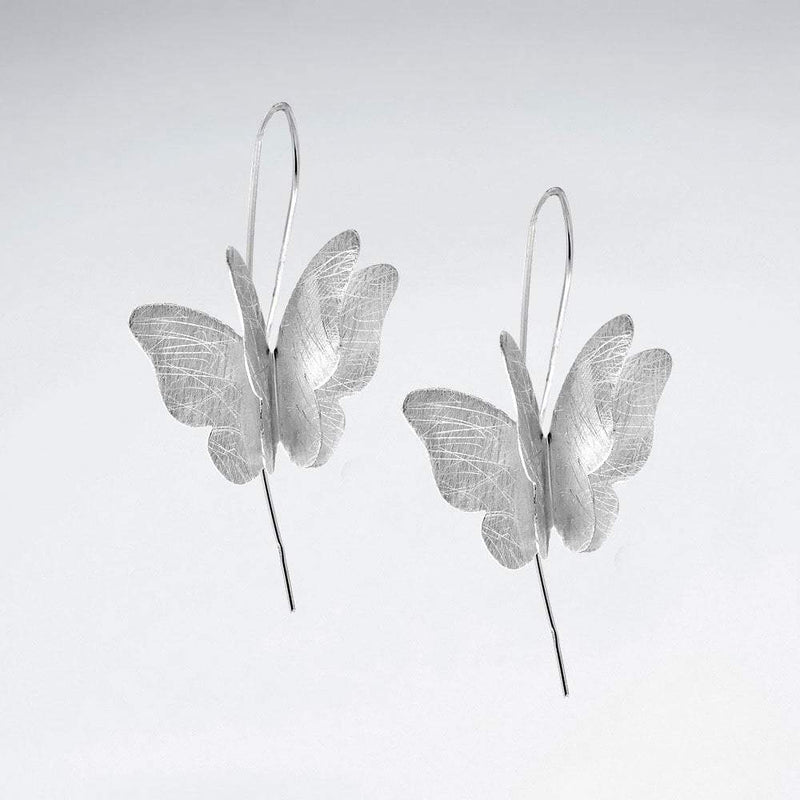 Elegant Butterfly Earrings - Sterling Silver - Roano Collection