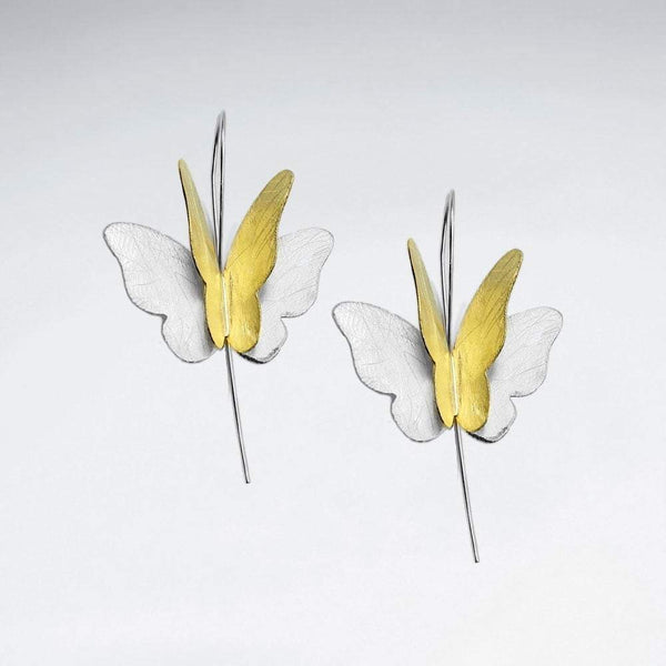 Elegant Butterfly Earrings - Women Gold & Silver Earrings  - Roano Collection