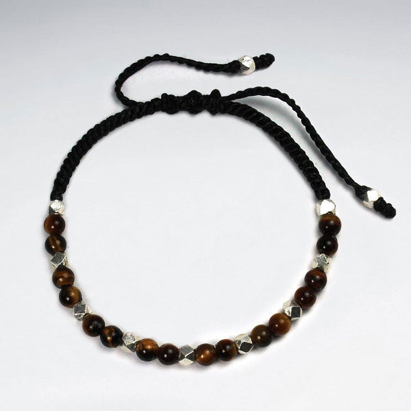 Fierce and Dynamic Tiger Eye Bracelet - Sterling Silver - Roano Collection