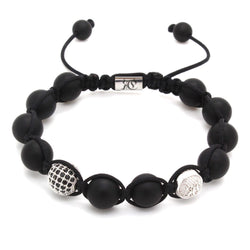 Signature Onyx Shamballa Bracelet – Roano Collection
