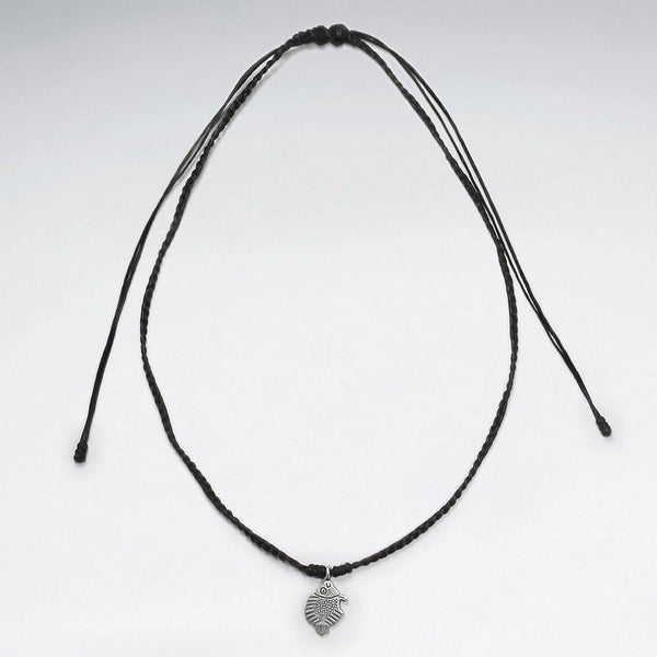 Big Catch Necklace Macrame - Sterling Silver - Roano Collection