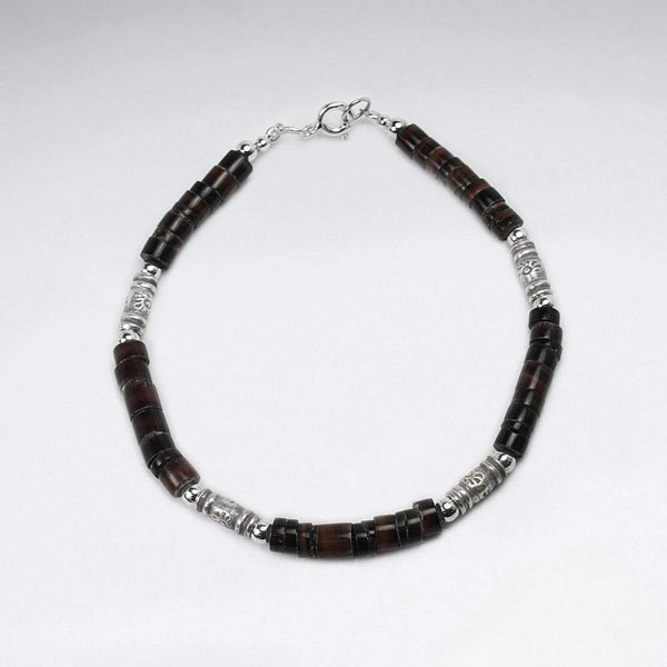 Shell Bead Wrap Bracelet - Sterling Silver - Roano Collection