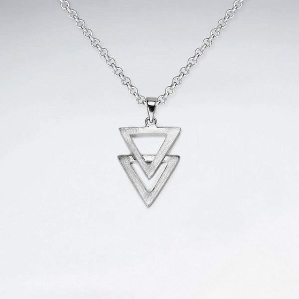 Double Triangles Pendant - Sterling Silver - Roano Collection