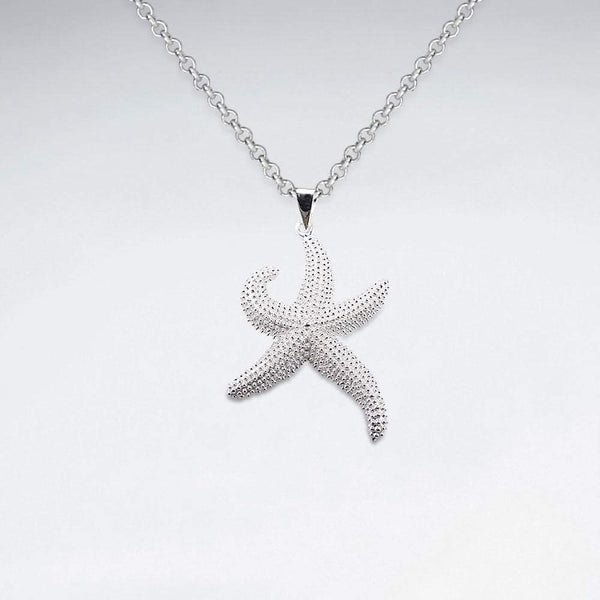 Delightful Starfish Sterling Silver Necklace Sterling Silver Pendant Roano Collection