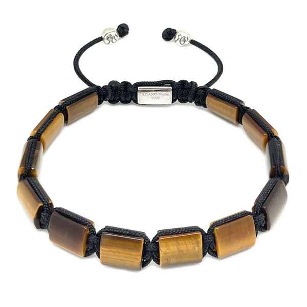 Classic Tiger Eye Full Square Bead Bracelet beaded Bracelet Roano Collection