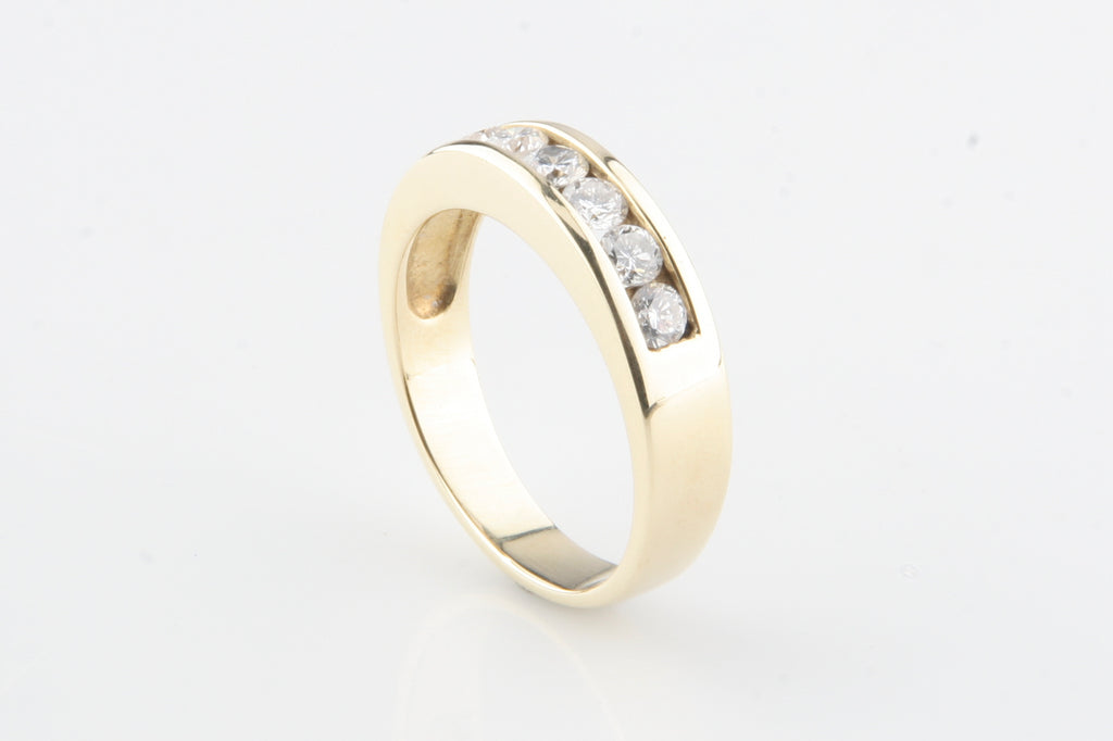 14k Yellow Gold Men's Diamond Ring TDW = 1.20 Ct Size 11