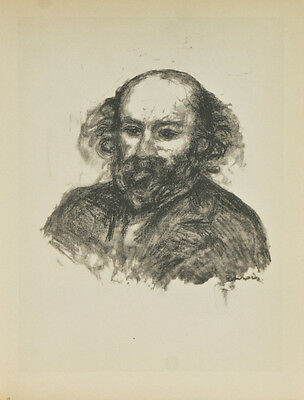 """Paul Cezanne"" By Fernand Mourlot After Renoir Lithograph LE #2709/3000"