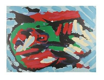 """Flying Head Over Ocean"" by Karel Appel Lithograph on Paper LE of 160 30"" x 22"""