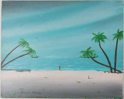 """Maui Shore"" By Kenneth Stancin Signed 2005 Acrylic/Oil Painting on Board"