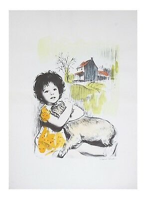 """My Best Friend"" by David Shalev LE of 200 Hand-Colored Lithograph on Paper CoA"