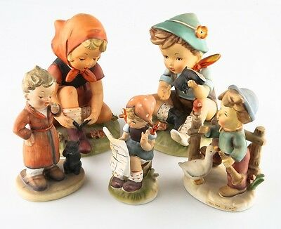 Lot of 5 Erich Stuaffer Porcelain Figurines, Good Condition, Great Collectibles!