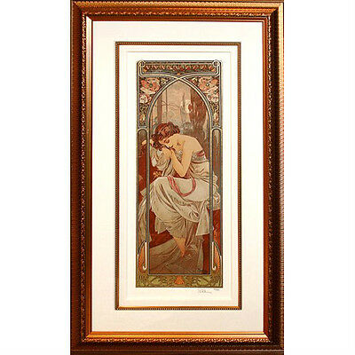 """Nights Repose"" By Alphonse Mucha Ltd Edition #42/475 Giclee on Archival Paper"