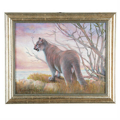 """Puma... Territorial Surveillance"" By Anthony Sidoni 2002 Signed Oil Painting"