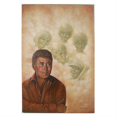 Untitled (Father Thinking of Children) By Anthony Sidoni Signed Oil on Canvas