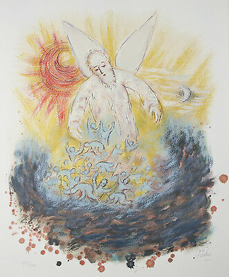 """Ezekiel From The Prophet's Suite"" By Reuven Rubin Signed Lithograph #195/200"