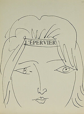 """L'epervier"" By Pablo Picasso Lithograph from Buffon Book 14 3/4""x11"""