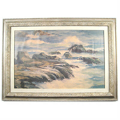 "Untitled (Ocean Scene) By Pamela Mason Signed Framed Print 19""x26 1/2"""