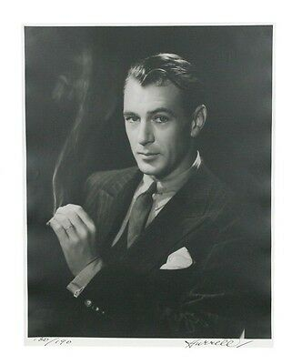 "Gary Cooper by George Hurrell Signed Photographic Print LE of 190 14"" x 11"""