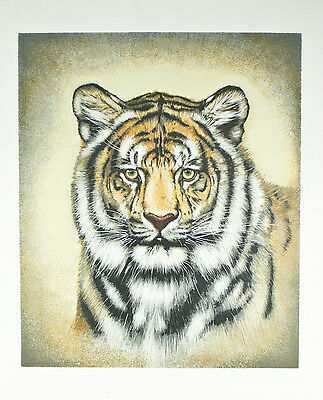"""Siberian Tiger"" by Martin Gilbert Katon Signed Trial Proof Lithograph 29""x24"""