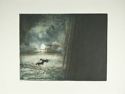 """Monsoon"" by Kaiko Moti Signed Ltd Edition #42/120 Etching 22""x30"""