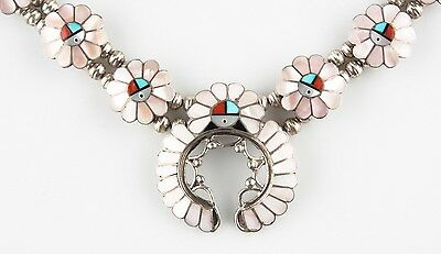 Sterling Silver Ashbarry Gasper Inlay Sunface Necklace & Clip-on Earring Set