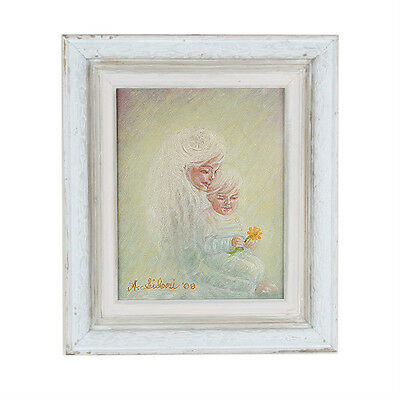 """A Daisy For My Mommy"" By Anthony Sidoni 2008 Signed Oil Painting 14""x12"""