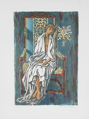 """MODEL"" BY ALAUX, JEAN-PIERRE EA SIGNED LITHOGRAPH 18 X 12 W/ CoA"