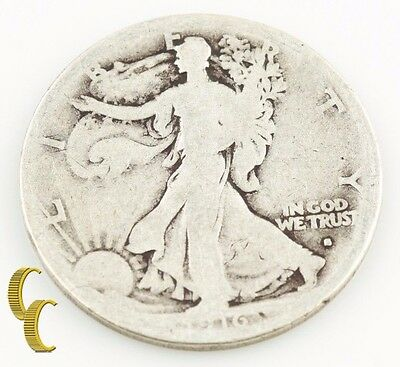 1916-S Walking Liberty Half Dollar (AG-G) San Francisco 1st Year Walker KM-142