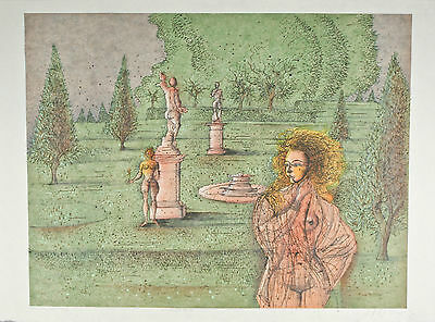 """Automn A Versailles"" by Jean Carzou Signed Artist's Proof #32/150 AP Lithograph"